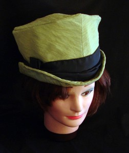 A reproduction of Alice in Wonderlands Mad Hatter Hat