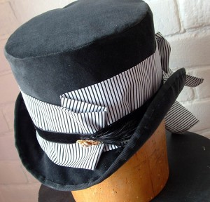A grey Velvet Top Hat made about 5 years ago